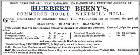 Sussex Advertiser 3 Jan 1877