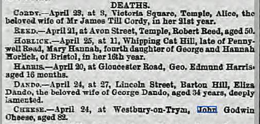 Western Daily Press 26 Apr 1873