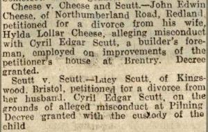 Western Daily Press 7 July 1931