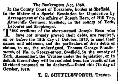 London Gazette 1873