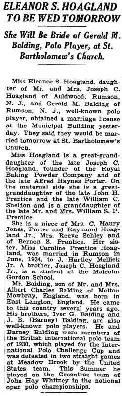 NY Times article 1935